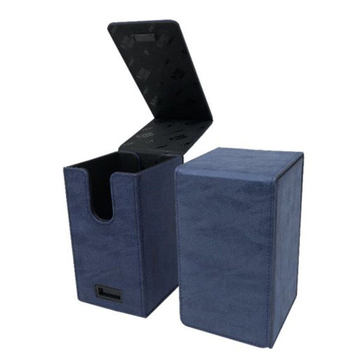 Ultra Pro Alcove Tower Suede Collection Sapphire Flip Box