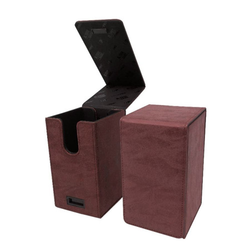 Ultra Pro Alcove Tower Suede Collection Ruby Flip Box