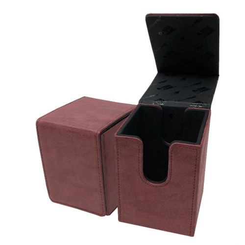 Ultra Pro Alcove Suede Collection Ruby Flip Box