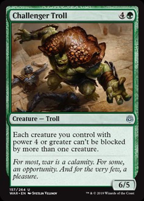 MtG War of the Spark Uncommon Foil Challenger Troll #157