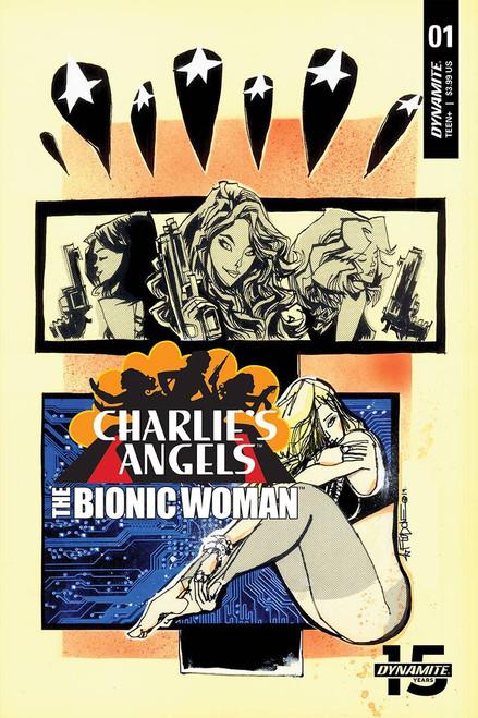 Dynamite Entertainment Charlie's Angels Vs Bionic Woman #1 Comic Book [Jim Mahfood Variant Cover B]
