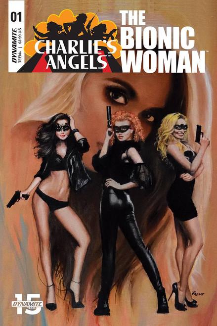 Dynamite Entertainment Charlie's Angels Vs Bionic Woman #1 Comic Book [Ron Lesser Variant Cover C]