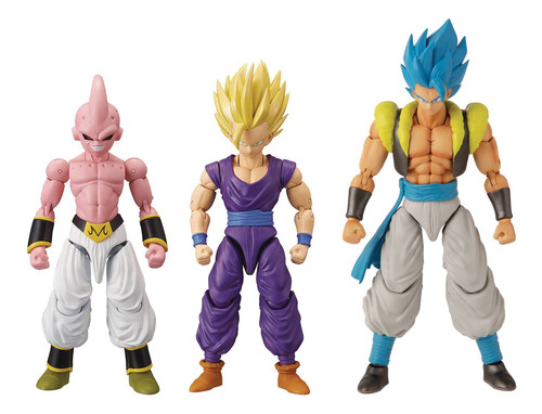 Dragon Ball Super Dragon Stars Series 11 Super Siayan 2 Gohan, Super Siayan Blue Gogeta & Majin Buu Final Form Set of 3 Action Figures