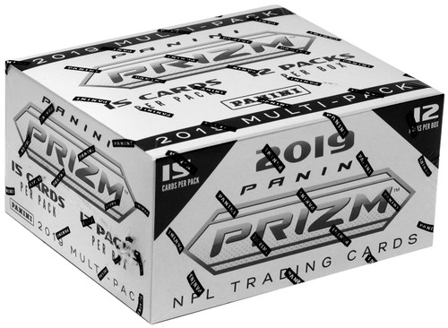 NFL Panini 2019 Prizm Football Trading Card FAT Pack Box [12 Packs]