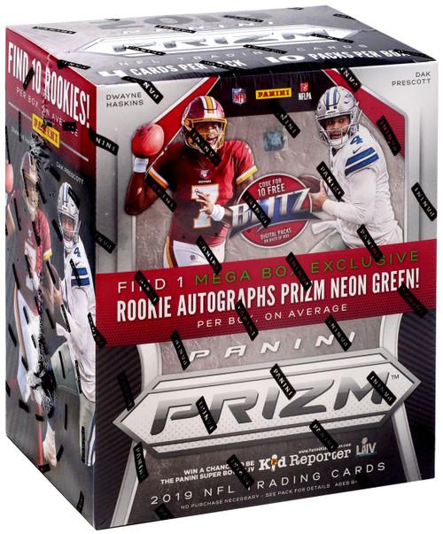 NFL Panini 2019 Prizm Football Trading Card MEGA Box [10 Packs, 1 Rookie Autograph]