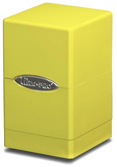 Ultra Pro Card Supplies Satin Tower Yellow Deck Box