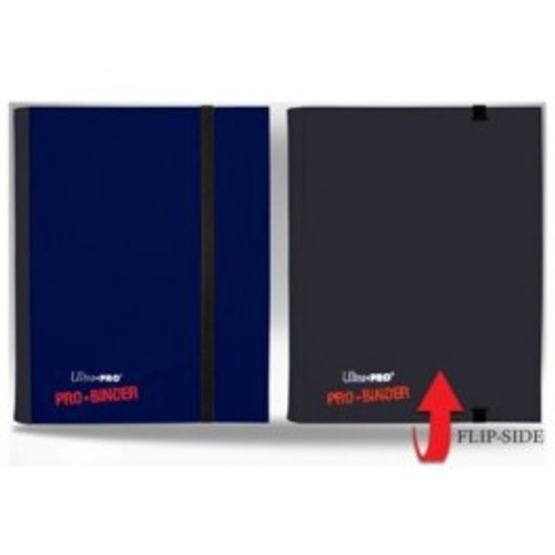 Ultra Pro Card Supplies Pro-Binder Blue & Black Flip 4-Pocket Binder