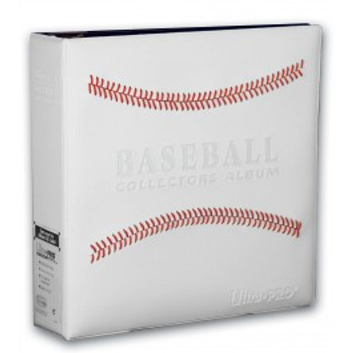 Ultra Pro 3 Ring Baseball Album [White Stitched]