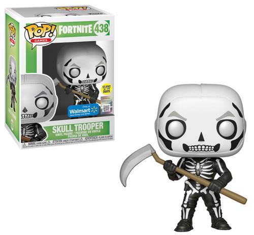 Funko Fortnite POP! Games Skull Trooper Exclusive Vinyl Figure #438 [Glow-in-the-Dark, Damaged Package]