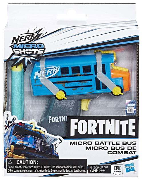 NERF Fortnite Micro Shots Micro Battle Bus Dart Blaster Toy