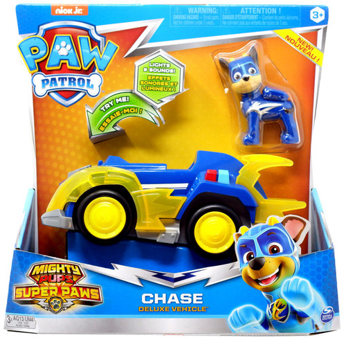 Paw Patrol Mighty Pups Super Paws Chase Vehicle & Figure