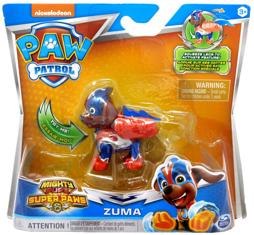 Paw Patrol Mighty Pups Super Paws Zuma Figure