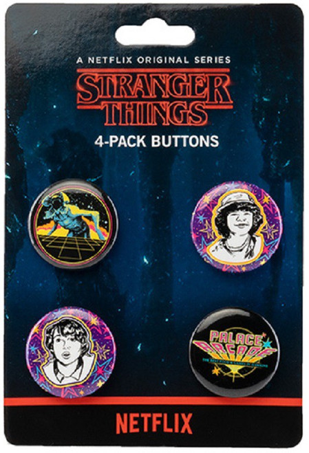 Funko Stranger Things Palace Arcade Button 4 Piece Set [Limited Edition]