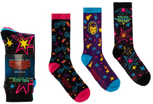Funko Stranger Things Arcade Graphics Crew Sock 3 Pack [Limited Edition]