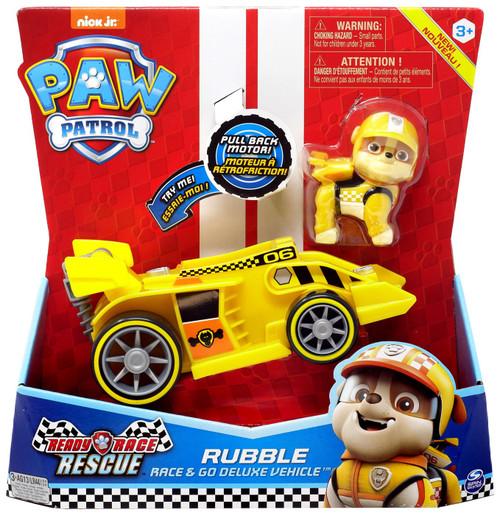 Paw Patrol Ready Race Rescue Race & Go Rubble Vehicle & Figure