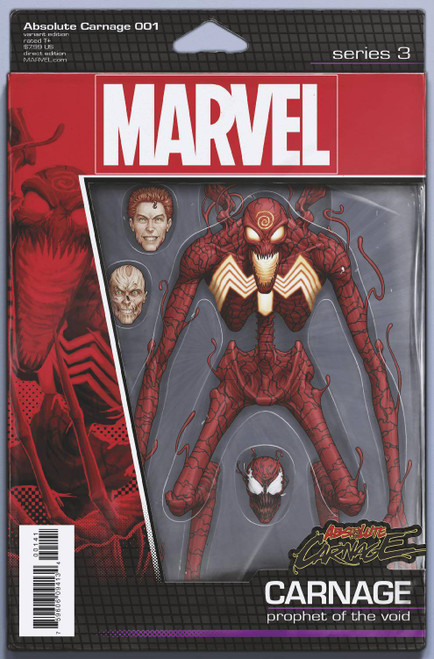 Marvel Comics Absolute Carnage #1 Comic Book [Christopher Action Figure Variant Cover]
