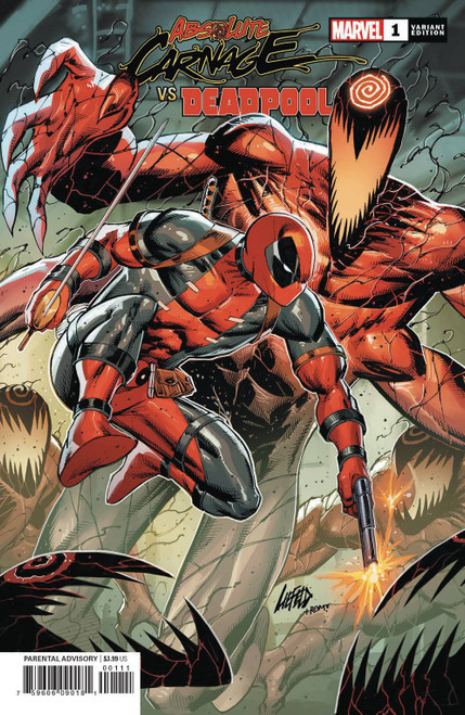 Marvel Comics Absolute Carnage Vs. Deadpool #1 Comic Book [Liefeld Connecting Variant Cover]