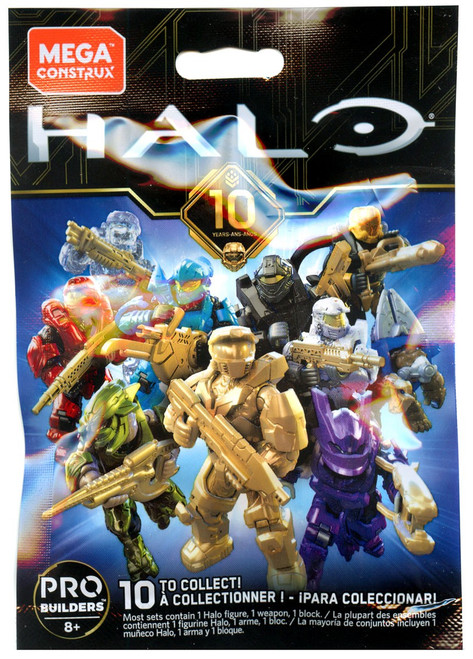 Halo 10th Anniversary Minifigure Mystery Pack [1 RANDOM Figure!]