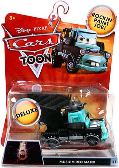 Disney / Pixar Cars Cars Toon Deluxe Oversized Music Video Mater Diecast Car [Damaged Package]
