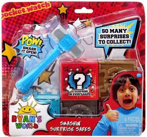 Pocket Watch Ryan's World Smashin' Surprise Safes Mystery Set