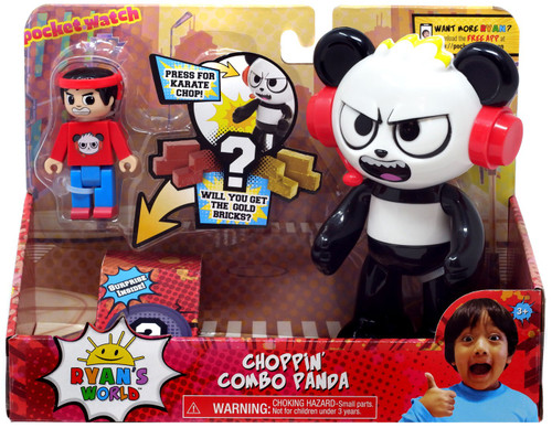 Ryan's World Choppin' Combo Panda Figure Set