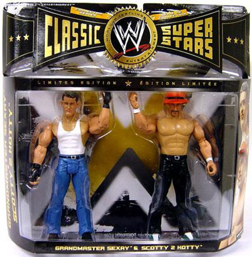 WWE Wrestling Classic Superstars Limited Edition Grandmaster Sexay & Scotty 2 Hotty Action Figure 2-Pack
