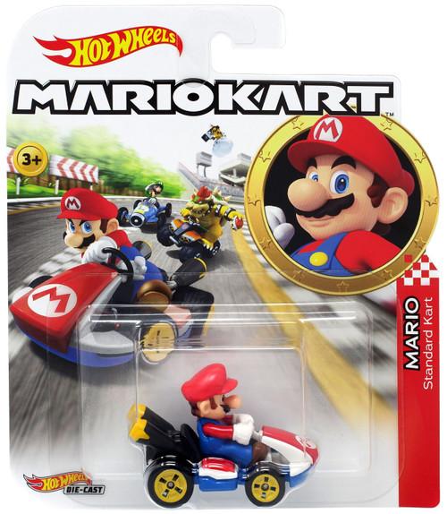 Hot Wheels Mario Kart Mario Standard Kart Diecast Car