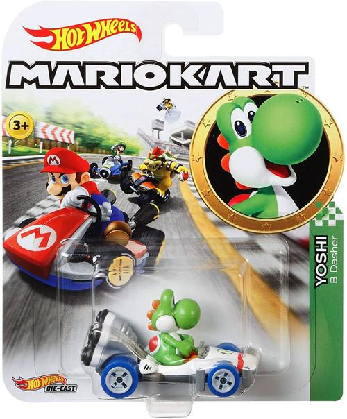 Hot Wheels Mario Kart Yoshi B Dasher Diecast Car