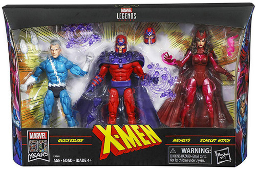 X-Men Marvel Legends Magneto, Quicksilver & Scarlet Witch Exclusive Action Figure 3-Pack