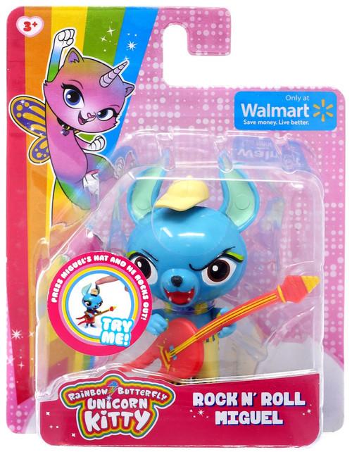 Nickelodeon Rainbow Butterfly Unicorn Kitty Rock N' Roll Miguel Exclusive Figure