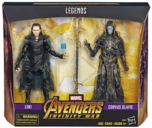 Avengers Infinity War Marvel Legends Loki & Corvus Glaive Exclusive Action Figure 2-Pack