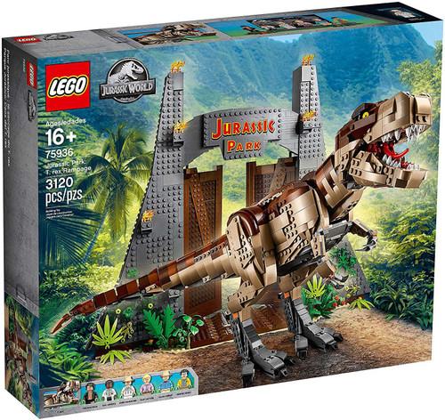 LEGO Jurassic World T. Rex Rampage Set #75936