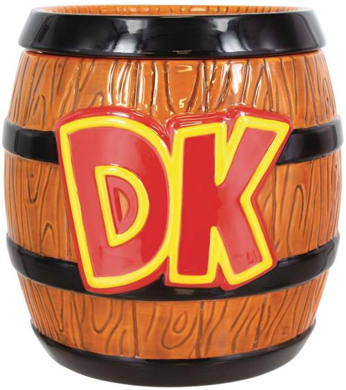 Super Mario Donkey Kong Barrel 8-Inch Cookie Jar