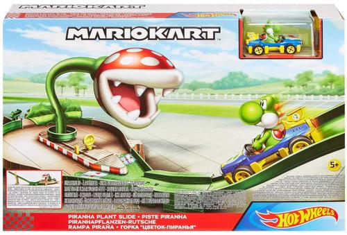 Hot Wheels Mario Kart Piranha Plant Slide Track Set [with Yoshi]