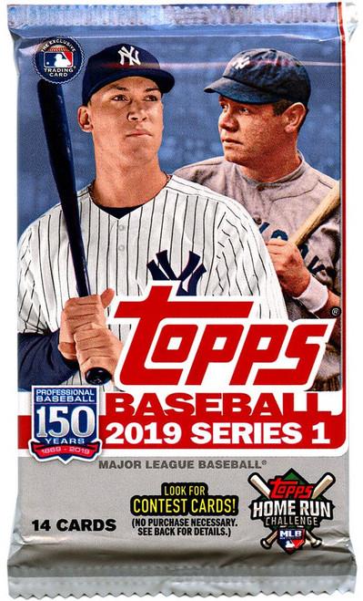 MLB Topps 2019 Series 1 Baseball Trading Card RETAIL Pack [14 Cards!]
