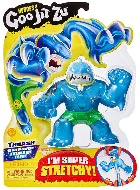 Heroes of Goo Jit Zu Thrash Action Figure [Shark, Version 1 (Green Shorts)]