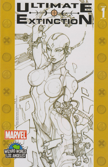 Marvel Comics Ultimate Extinction #1 Comic Book [Wizard World Los Angeles Sketch Variant Cover]