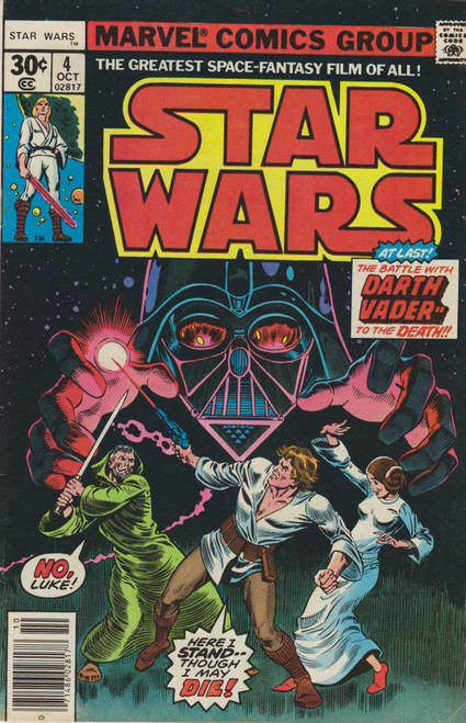 Marvel Comics Star Wars #4 The Battle With Darth Vader to the Death! Comic Book [Death of Ovi-Wan Kenobi] [Very Fine]