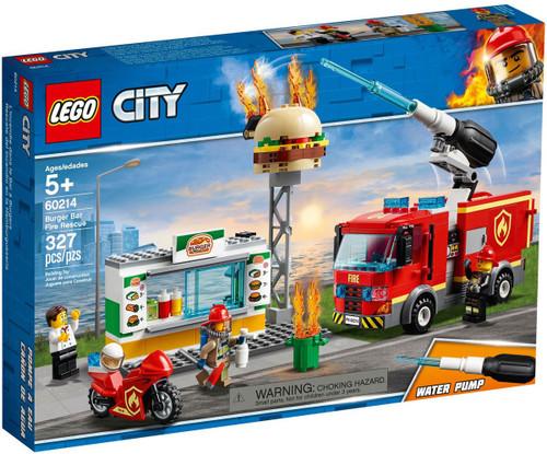 LEGO City Burger Bar Fire Rescue Set #60214 [Damaged Package]