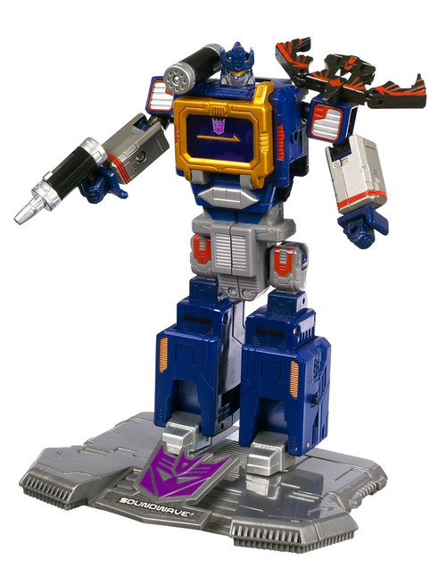 "Transformers Generation 1 TItanium Series Soundwave 6-Inch 6"" Diecast Figure [Loose]"