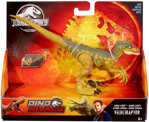 Jurassic World Fallen Kingdom Dino Rivals Velociraptor Action Figure [Savage Strike]