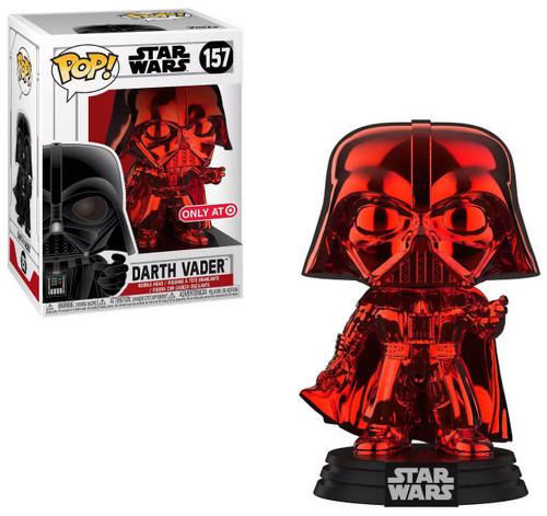 Funko POP! Star Wars Darth Vader Exclusive Vinyl Figure #157 [Red Chrome]