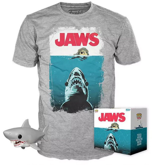 Funko POP! Movies Jaws Exclusive Vinyl Figure & T-Shirt [Small]