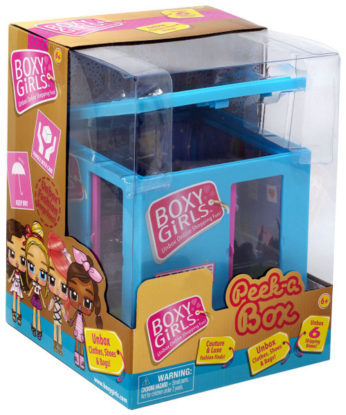 Boxy Girls Peek-A-Box Mini Doll [Blue]
