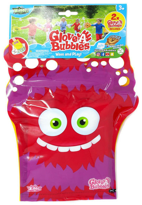 Glove A Bubble Red & Yellow Monsters 2-Pack