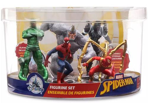Disney Marvel Spider-Man, Rhino, Agent Venom, Scorpion & Iron Spider Exclusive 6-Piece PVC Figure Play Set [2019]