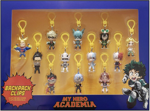 My Hero Academia Exclusive 12-Piece Backpack Clips Figure Set