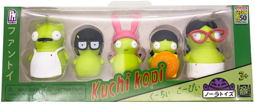 Bob's Burgers Kuchi Kopi Family Exclusive 5 Piece Figure Set