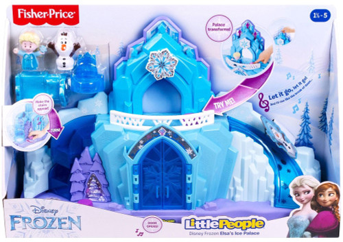 Fisher Price Disney Frozen Little People Elsa's Ice Palace Playset [Lights & Sounds]