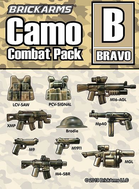 BrickArms Camo Combat Pack B 2.5-Inch Weapons Pack [Bravo]